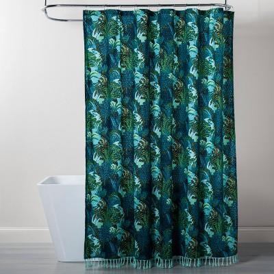 Jungle Print Shower Curtain Green - Opalhouse™
