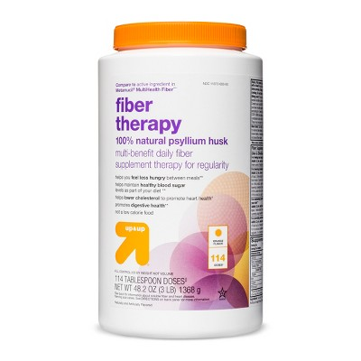 Fiber Therapy Laxative - Smooth Orange Flavor - 48.2oz - up & up™