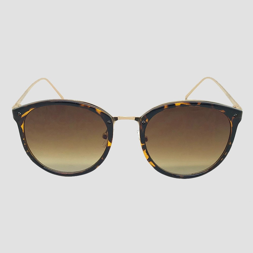 Women's Round Sunglasses - A New Day Brown