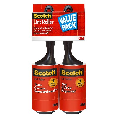 Lint Rollers Scotch Twin Pack 200 Sheet