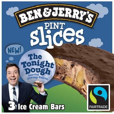 Ben & Jerry's Pint Slices The Tonight Dough Ice Cream Bars - 3ct/9oz