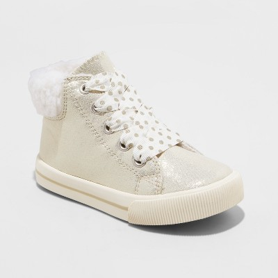 Toddler Girls' Vanna High Top Sneakers - Cat & Jack™ Gold 12