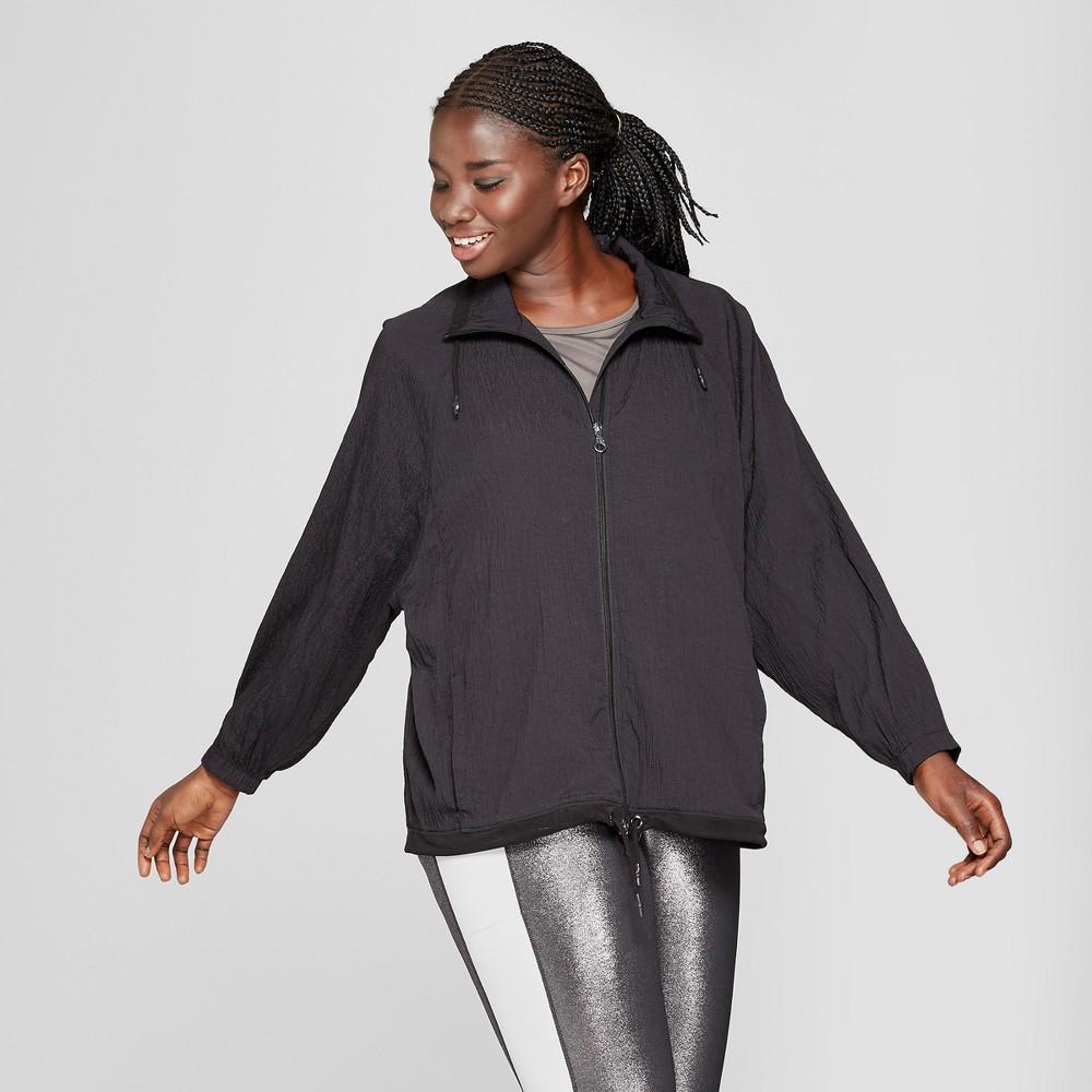 Women's Plus Size Textured Raglan Softshell Jacket - JoyLab Black 4X