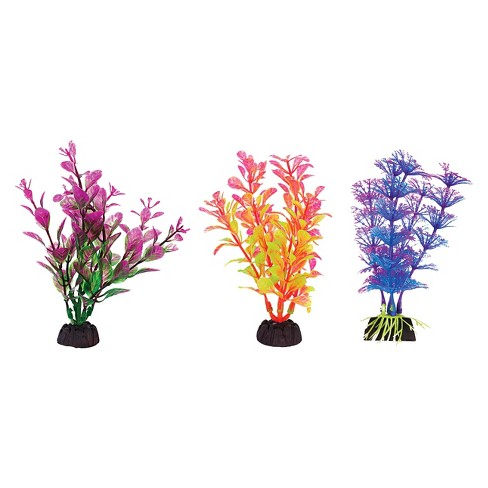 Aqua-Plant 4-Inch Colorful Plants 6-Piece Assortment from Penn-Plax - image 1 of 1