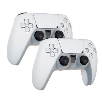 Insten Controller Grip Cover Case Compatible With PS5 Controller - Protective Silicone Skin, 2 Pack (White) : Target