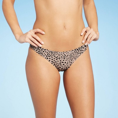 Juniors' Hipster Bikini Bottom - Xhilaration™ Tan Animal Print