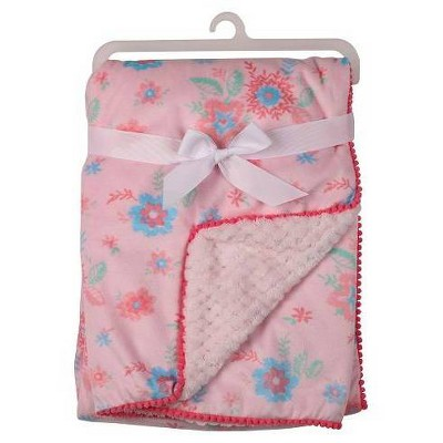 Laura Ashley La Floral Print With Pom Pom Pink