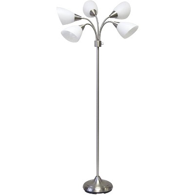 5 Headed Floor Lamp Satin Touch - Adesso