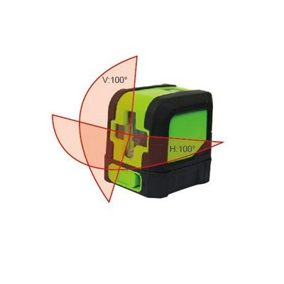 Rolevel 8211R Horizontal Vertical Red Beam Cross Line Self Leveling Laser Level with Pivoting Base, 197 Foot Maximum Distance
