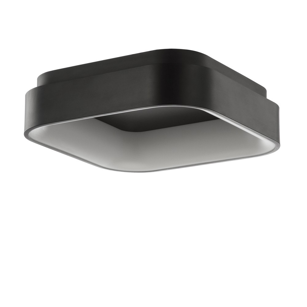 "Image of ""17.75"""" Rafael Integrated LED Metal Flush Mount Ceiling Light Black (Includes Energy Efficient Light Bulb) - JONATHAN Y"""