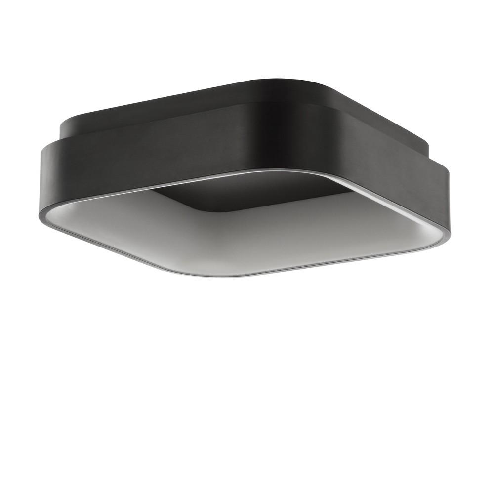 17.75 Rafael Integrated Led Metal Flush Mount Ceiling Light Black (Includes Energy Efficient Light Bulb) - Jonathan Y