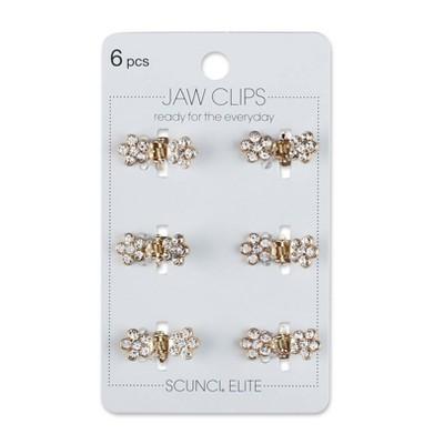 scunci Mini Jaw Clip - 6pk