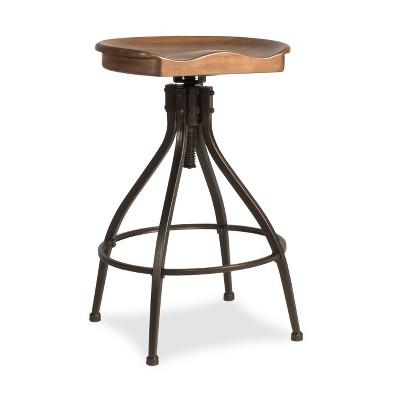 Worland Adjustable Barstools Brown/Black - Hillsdale Furniture