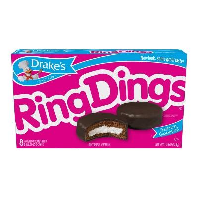 Drakes Ring Dings Chocolate Cake - 10ct/11.55oz