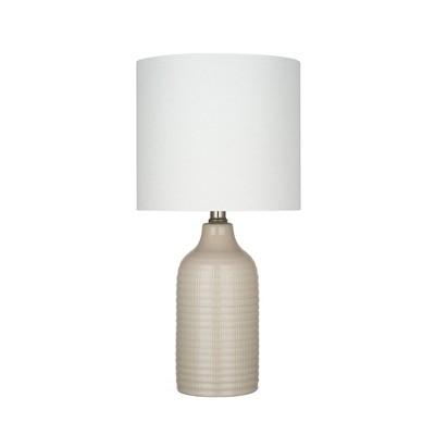 "18"" Ceramic Table Lamp (Includes LED Light Bulb)- Cresswell Lighting"