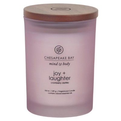 8.8oz Lidded Glass Jar Candle Joy & Laughter - Chesapeake Bay Candle
