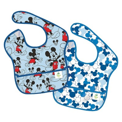 Bumkins Disney Baby Mickey Mouse 2pk Waterproof SuperBib Baby Bib Set - Blue