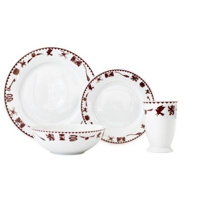 Robe Factory LLC Harry Potter Creatures & Icons Dinnerware Sets | 4-Piece Ceramic Dinner Set