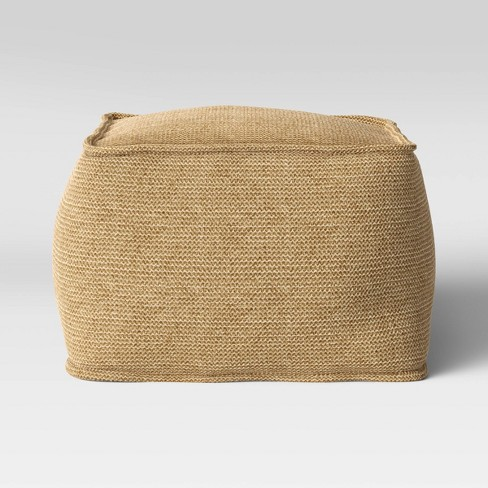 Outdoor Pouf Natural Woven - Threshold™ - image 1 of 4