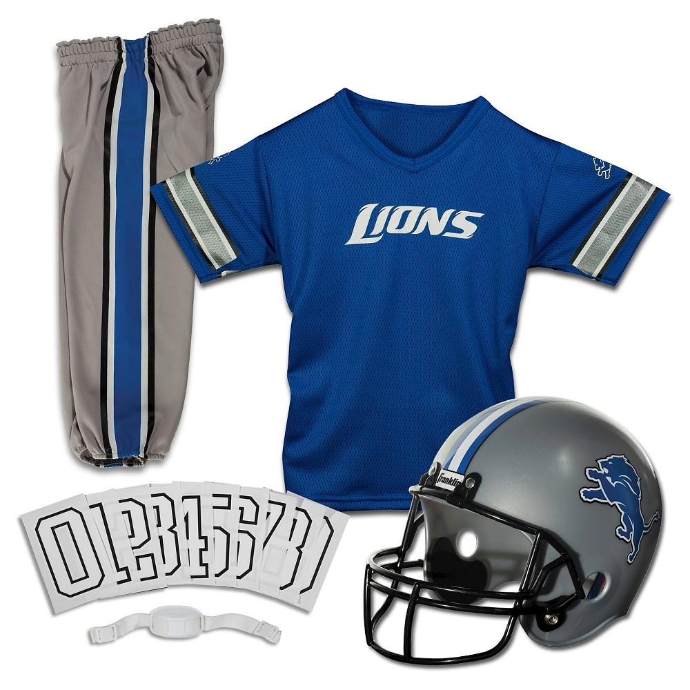 Franklin Sports NFL Detroit Lions Deluxe Uniform Set, Size: Small