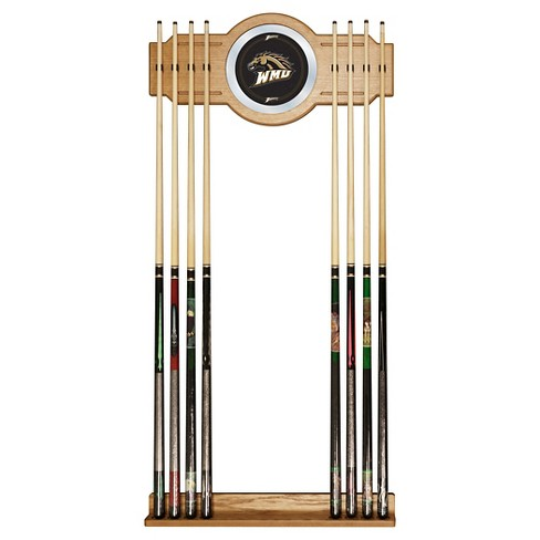 NCAA Western Michigan Broncos Wood & Mirror Wall Cue Rack 2pc - image 1 of 1