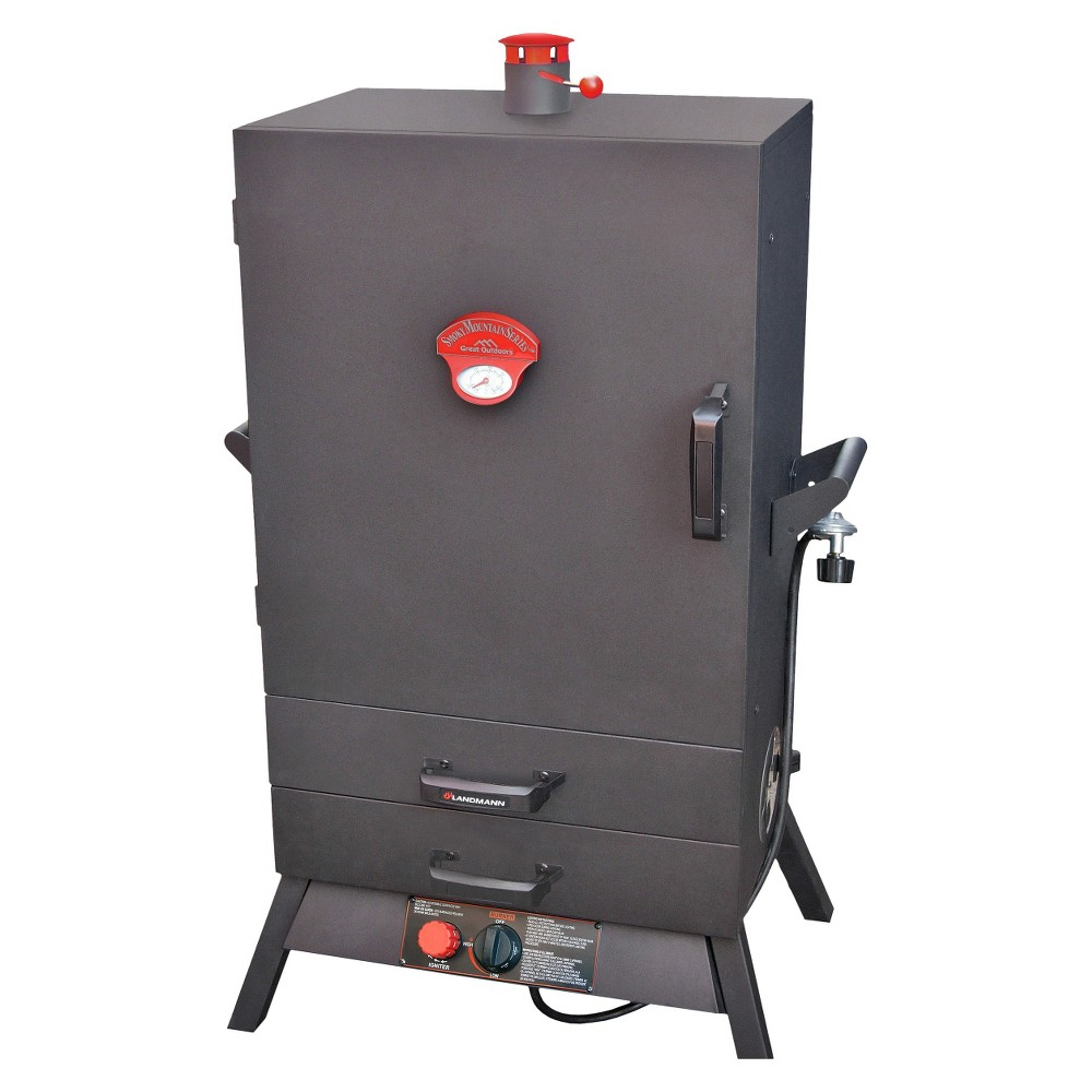 Landmann Wide Vertical Gas Smoker 38 - Black