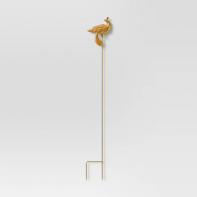 "34"" Iron and Aluminum Garden Stake Orange Bird - Opalhouse™"