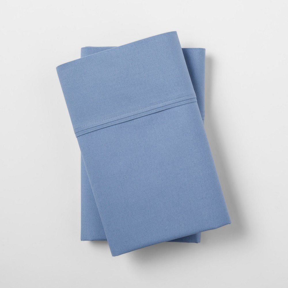 Ultra Soft Pillowcase Set (King) Blue 300 Thread Count - Threshold