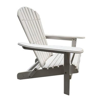 Villaret Wood Adirondack Chair - White - Thy Hom