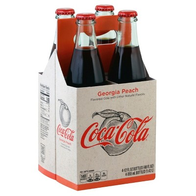 Coca-Cola Origins Georgia Peach - 4pk/12 fl oz Glass Bottles