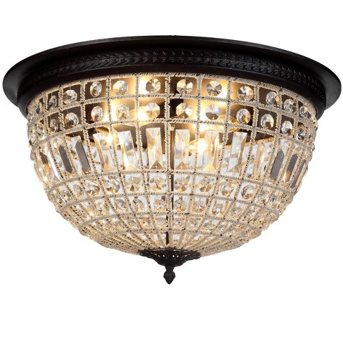 """Elegant Lighting 1205F24 Olivia 24"""" Wide 4 Light Flush Mount Ceiling Fixture from the Urban Classics Collection - image 1 of 1"""