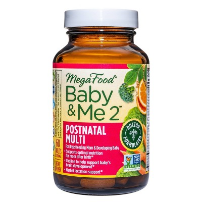 MegaFood Baby & Me 2 Postnatal Multi Supplement - 60ct