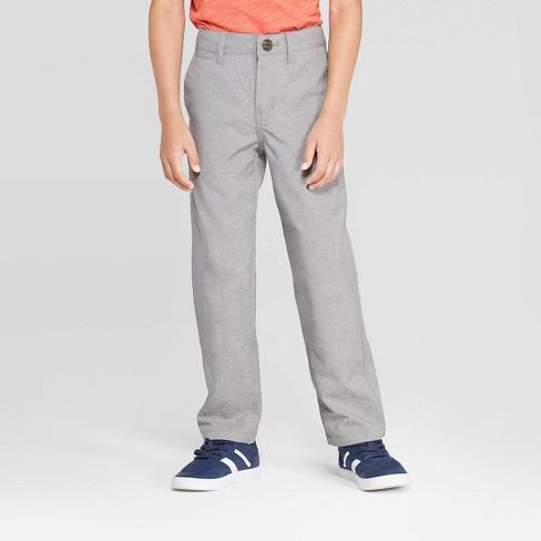 Boys' Quick Dry Chino Pants - Cat & Jack™ Heather Gray - image 1 of 3