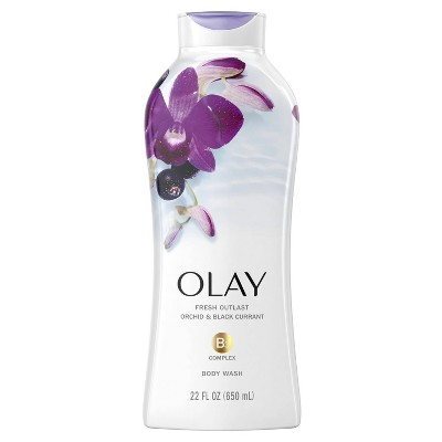 Olay Fresh Outlast Body Wash Orchid & Black Currant - 22 fl oz