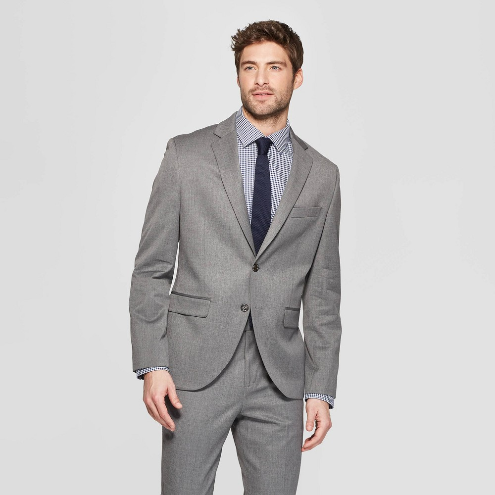 Men's Slim Fit Suit Jacket - Goodfellow & Co Thundering Gray 42S