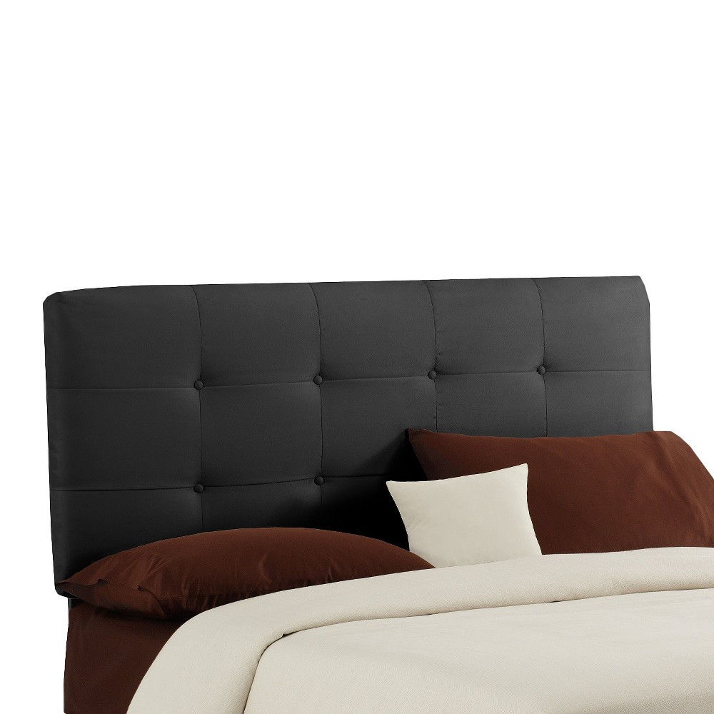 Dolce Microsuede Headboard Premier Black Queen Skyline Furniture