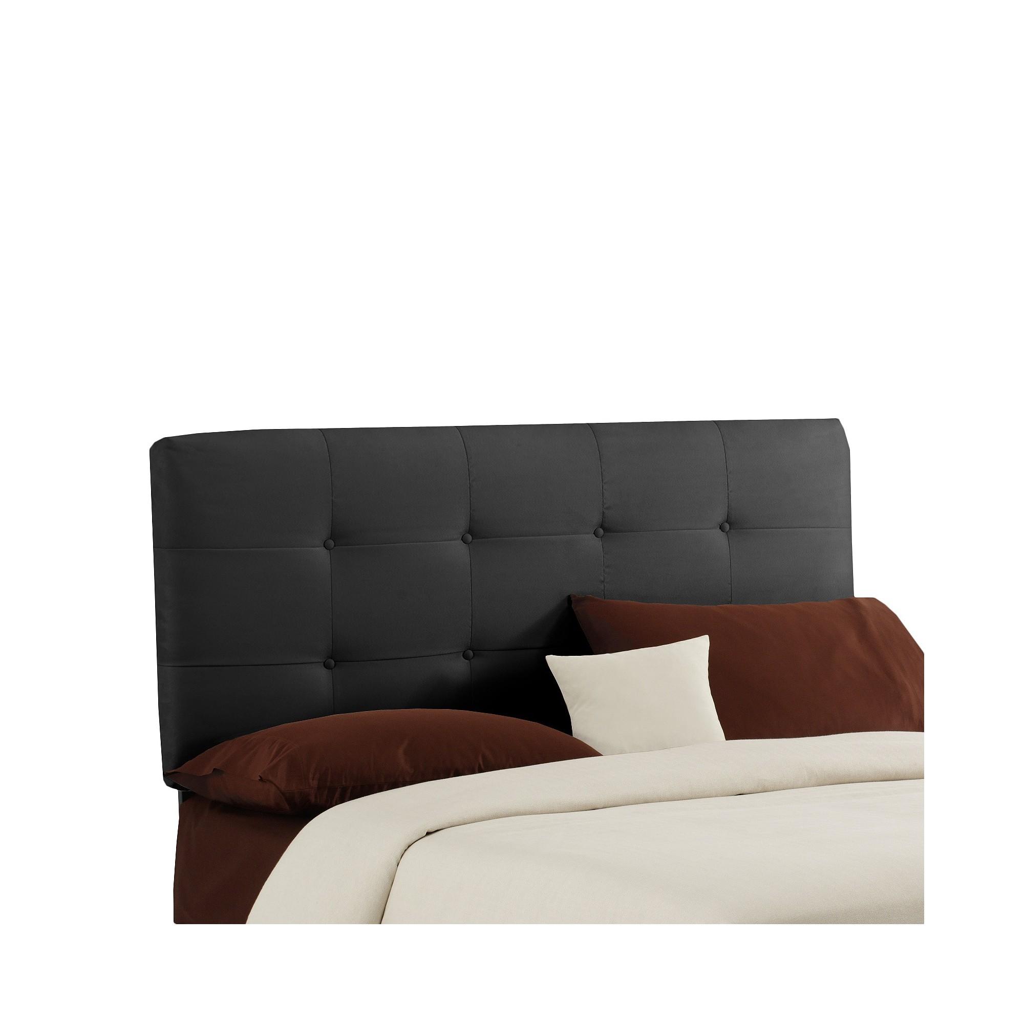 Dolce Microsuede Headboard - Premier Black - Full - Skyline Furniture