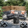 Lunding Patio Sectional Charcoal 3pc Set - Project 62™ - image 2 of 4