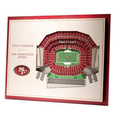 NFL San Francisco 49ers 5-Layer StadiumViews 3D Wall Art