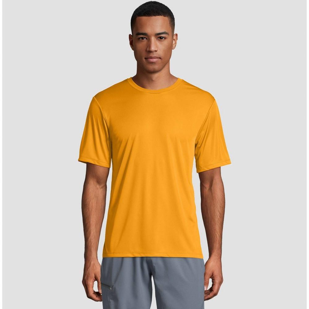 Hanes Men's Short Sleeve CoolDRI Performance T-Shirt -Gold M, Gold