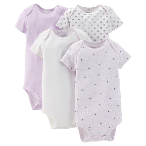 Baby Girls' 4pk Bodysuit Set - Just One You™ Made by Carter's® Purple/White 3M - image 1 of 1