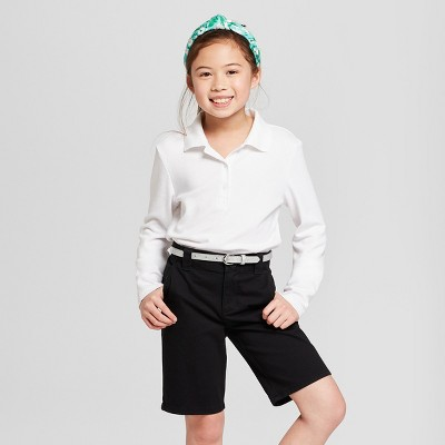 d27e8caf Girls' Long Sleeve Interlock Uniform Polo Shirt - Cat & Jack™ : Target