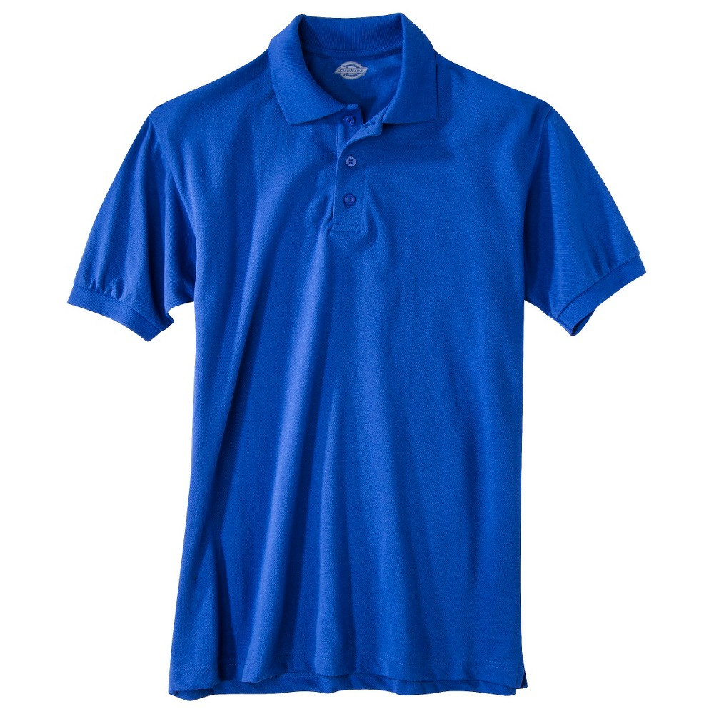 Dickies Men's Pique Uniform Polo Shirt - Royal Blue XL