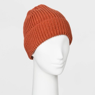 Women's Shaker Stitch Knit Cuff Beanie   A New Day One Size by A New Day One Size