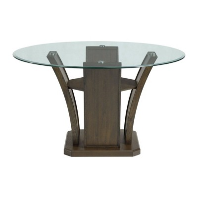 Simms Round Standard Height Dining Table Walnut - Picket House Furnishings