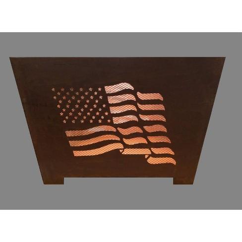 Laser Cut Flag Fire Basket - Esschert Design - image 1 of 2