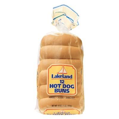 Lakeland Jumbo Hotdog Buns - 12ct/16oz