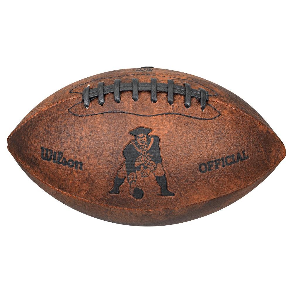 New England Patriots Wilson 9 Inch Throwback Football