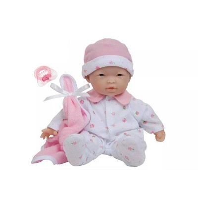 "JC Toys La Baby 11"" Baby Doll - Pink Outfit"