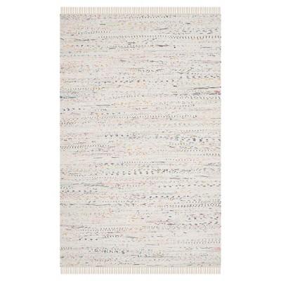 Huddersfield Area Rug - White / Multi (4' X 6' )- Safavieh